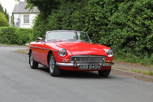 1970 MGB Roadster - UK car, overdrive, CWW For Sale