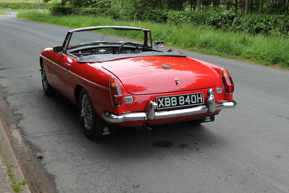 1970 MGB Roadster - UK car, overdrive, CWW For Sale (picture 4 of 12)