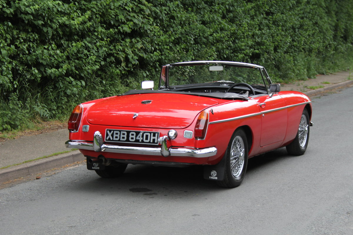 1970 MGB Roadster - UK car, overdrive, CWW For Sale (picture 5 of 12)