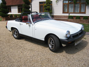 1976 MG MIDGET 1500. GLACIER WHITE. FULLY RESTORED SUPERB SOLD