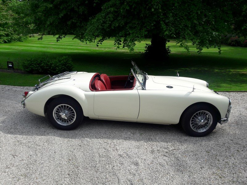 Mga old englisch white 1958 restored car 31500 euro SOLD (picture 1 of 6)