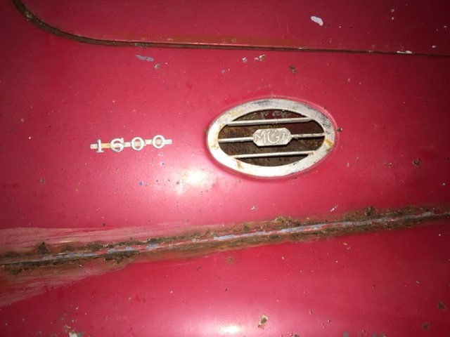 MGA 1960 MK1 1600 CC FOR RESTORATION UK CAR  SOLD (picture 2 of 6)