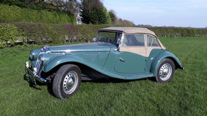 MG TF Midget 1250 1954 Green 53k Miles 5 Owners Original TD For Sale