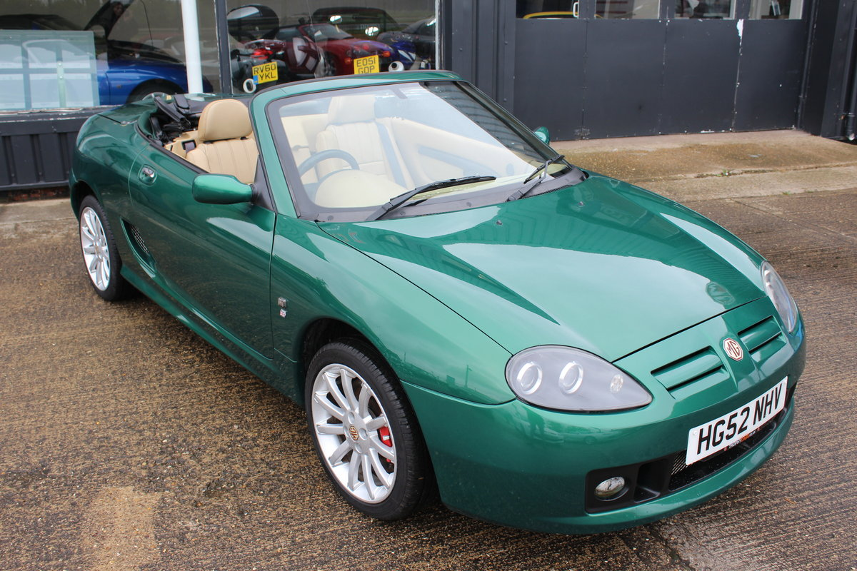2002 MG TF 160,TAN INTERIOR,32K,NEW HEADGASKET,BELT&PUMP,RAC SOLD (picture 1 of 5)