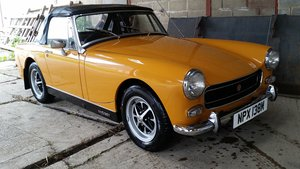 1973 Due in. MG Midget MkIII in Bronze Yellow, restored. 1275cc For Sale