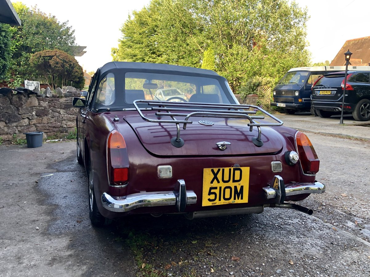 1973 MG Midget Chrome Bumpers 1275cc, Round Wheel Arch For Sale (picture 2 of 6)