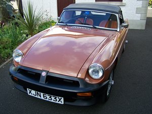 1980 MGB LE Roadster. Just 3592 Miles From New. For Sale