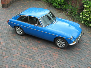 1978 MGB GT Chrome bumper bespoke leather interior For Sale