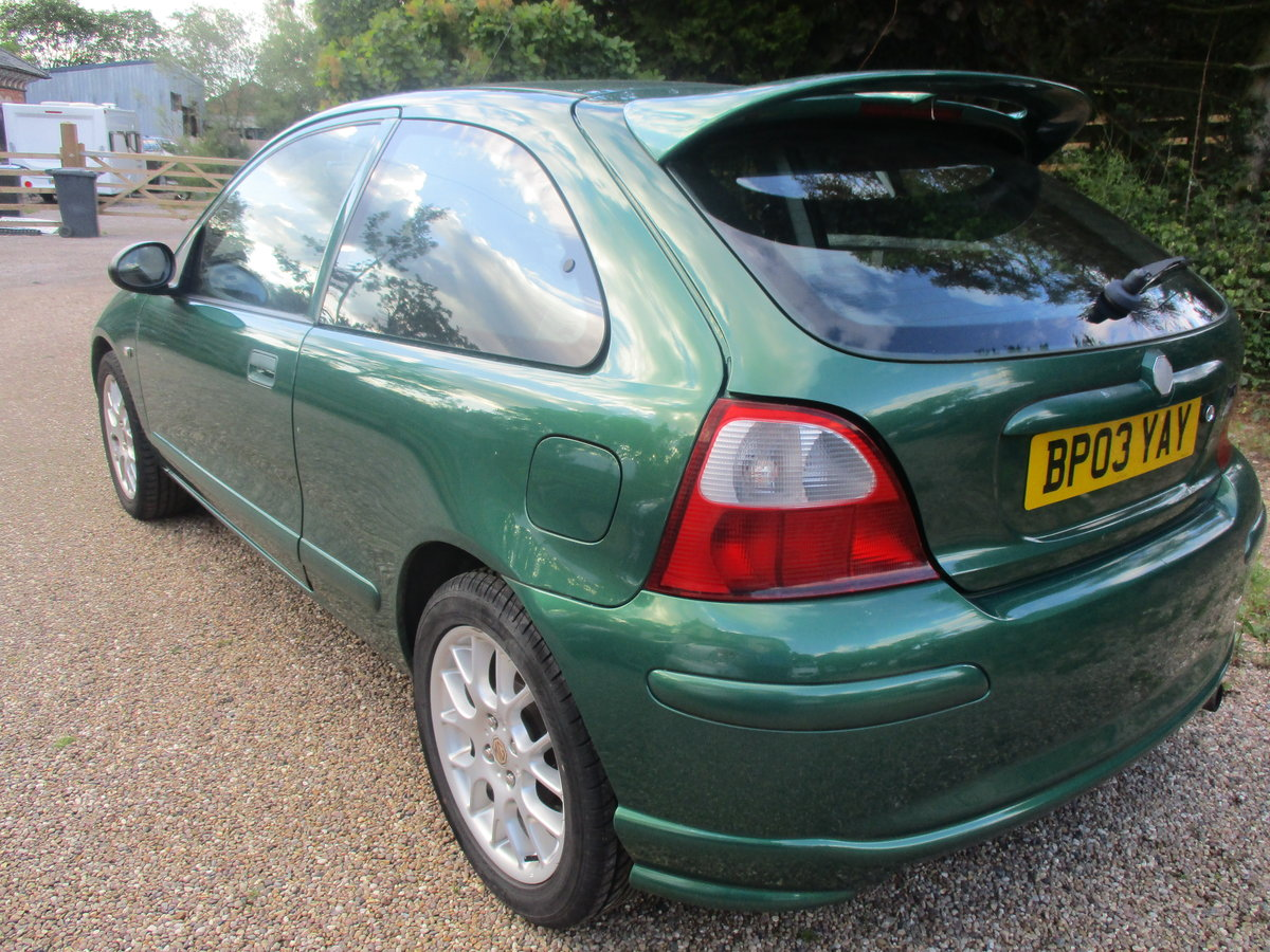 2003 MG 1400cc ZR 3 DOOR SPORTS SALOON 91K SUPER DRIVER JUNE MOT For Sale (picture 2 of 6)