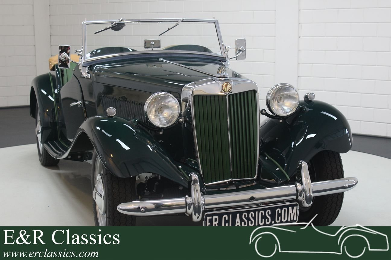 MG TD 1952 British Racing Green Restored For Sale (picture 1 of 6)