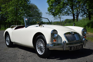 LHD 1961 MGA 1600 FINISHED IN OLD ENGLISH WHITE For Sale