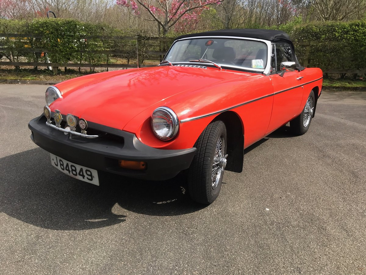 1975 MGB Roadster well maintained older restoration SOLD (picture 1 of 6)