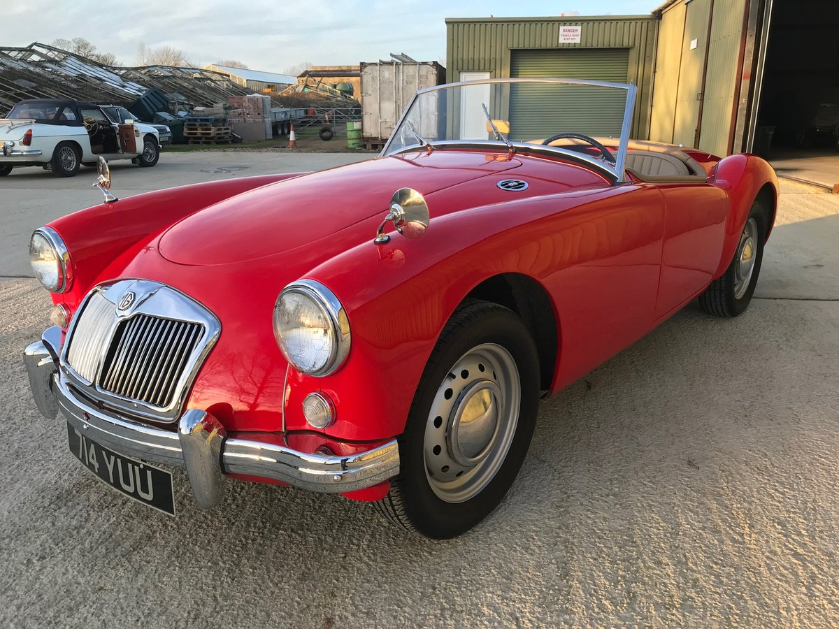 1956 MGA Roadster LHD.restored,rebuilt gearbox and just serviced For Sale (picture 2 of 6)