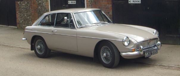 1966 MG B GT Sandy Beige Overdrive SOLD (picture 1 of 5)