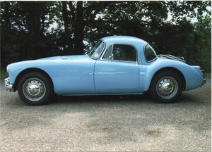 1960 MGA 1600 Coupe in Iris Blue For Sale