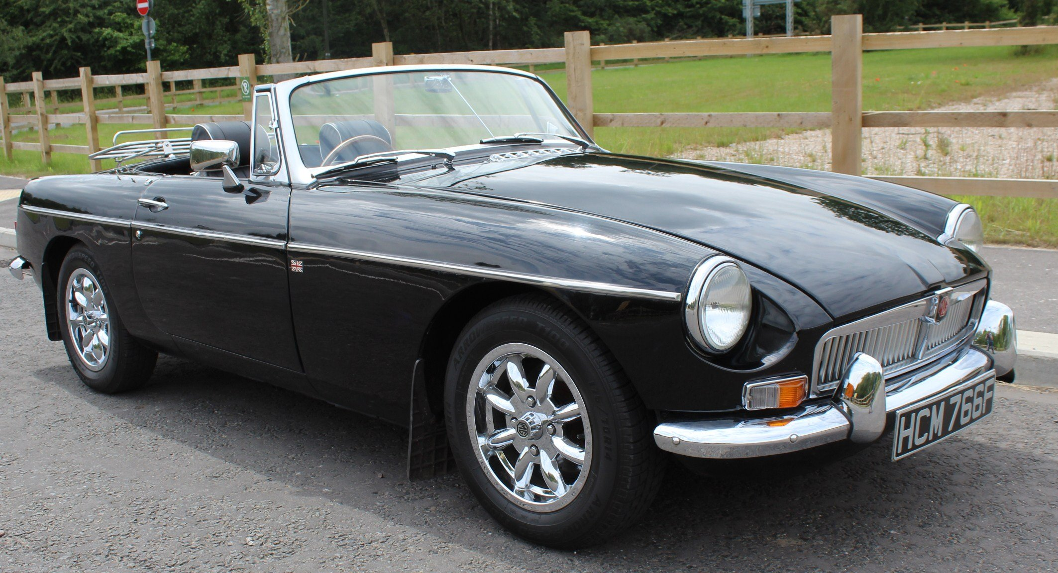 1968 MGB Roadster With Overdrive , Original Factory Black  SOLD (picture 1 of 6)