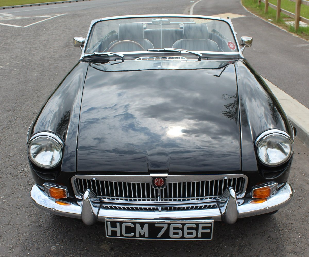 1968 MGB Roadster With Overdrive , Original Factory Black  SOLD (picture 2 of 6)
