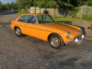 MGB GT 1970 - Chrome Bumper - Wire Wheels For Sale