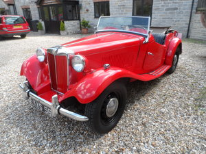 MG TDC Mk.2 1952 Red LH drive For Sale