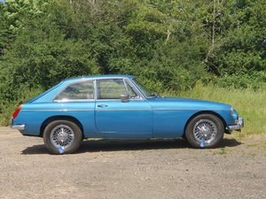MG B GT, 1970, Riviera Blue, AUTOMATIC For Sale