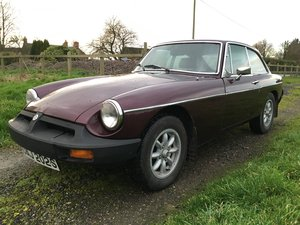 Maroon MG B GT - 1977 (MOT & Tax exempt)
