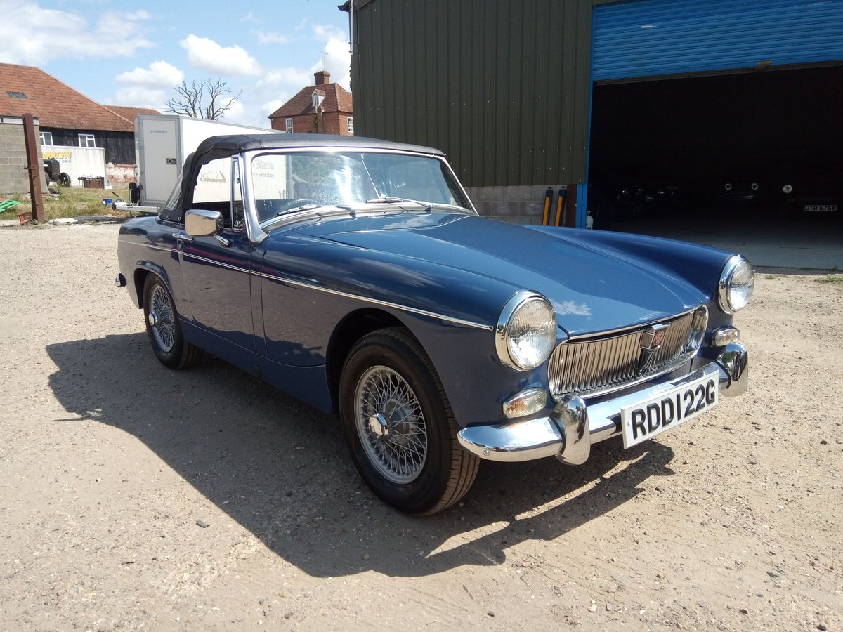 1969 MG Midget MKII - restored, beautiful condition SOLD (picture 1 of 6)