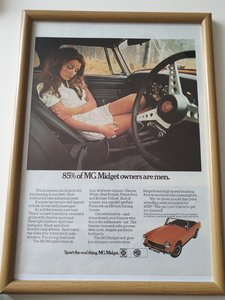 1970 Original  MG Midget Advert