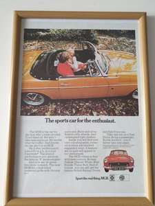 Original 1970 MGB Advert For Sale