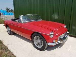 1969 MGC Roadster tartan red, black trim, restored, superb For Sale