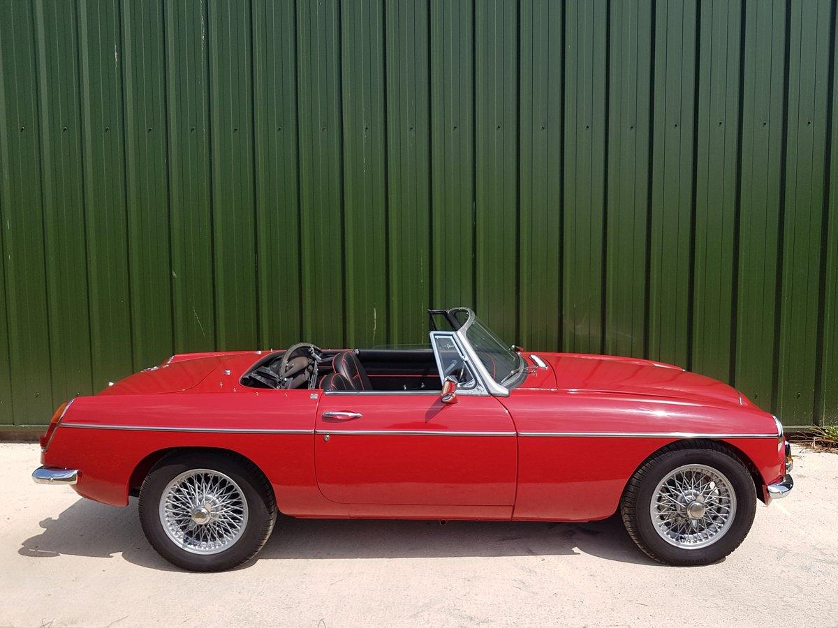 1969 MGC Roadster tartan red, black trim, restored, superb SOLD (picture 2 of 6)