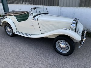MG TD 1952 in old English white  SOLD