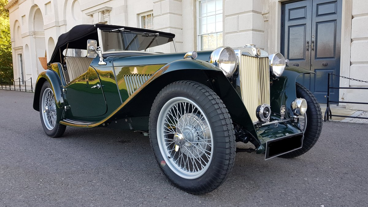 1948 MG TC IN BRITISH RACING GREEN ( CONCOURS ) For Sale (picture 1 of 6)