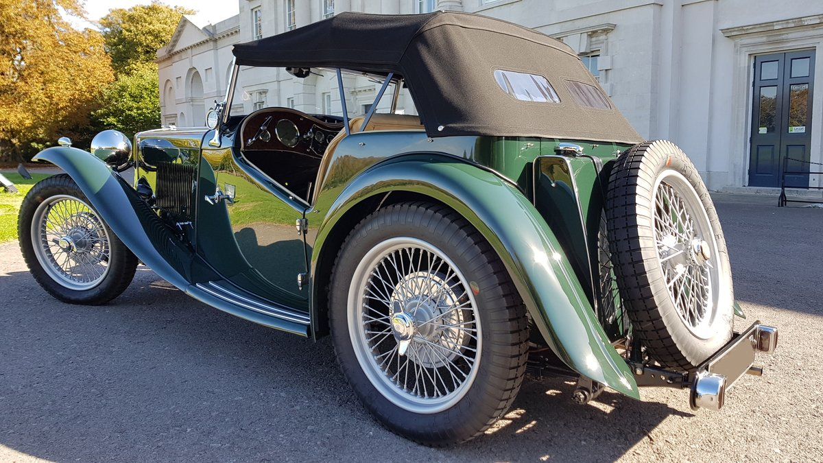 1948 MG TC IN BRITISH RACING GREEN ( CONCOURS ) For Sale (picture 2 of 6)
