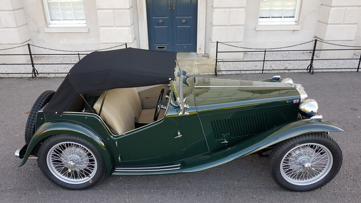 1948 MG TC IN BRITISH RACING GREEN ( CONCOURS ) For Sale (picture 3 of 6)