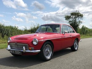 1969 MGC GT Manual Overdrive. Tartan Red with Black Leather  SOLD
