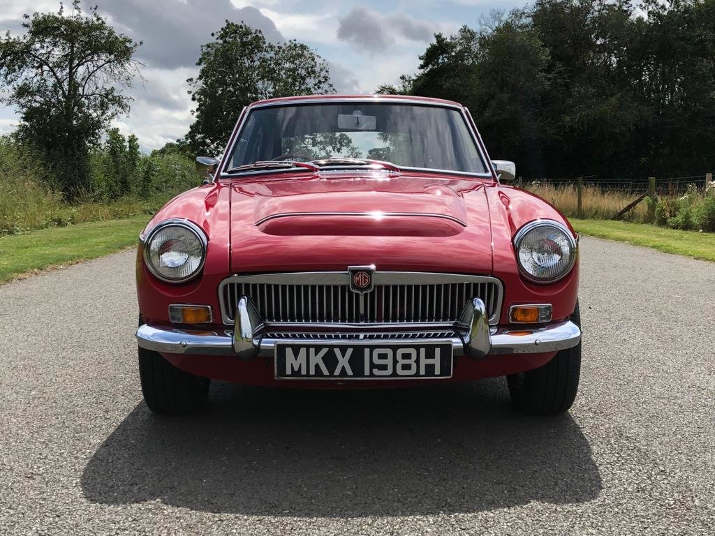 1969 MGC GT Manual Overdrive. Tartan Red with Black Leather  SOLD (picture 2 of 6)