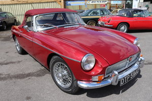 1965 MGB Roadster, Bare shell rebuild in Nightfire Red