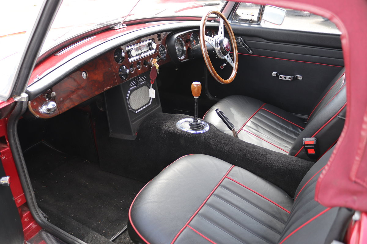 1965 MGB Roadster, Bare shell rebuild in Nightfire Red SOLD (picture 2 of 6)