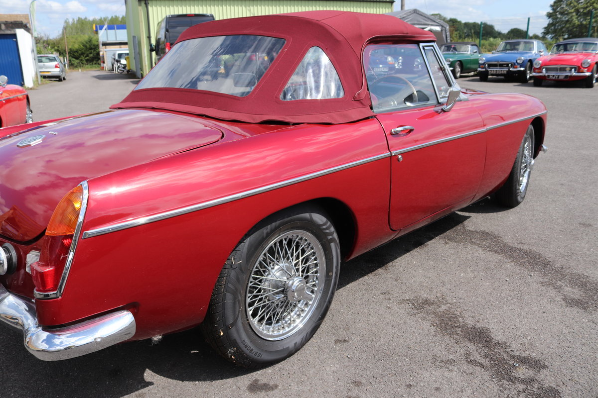 1965 MGB Roadster, Bare shell rebuild in Nightfire Red SOLD (picture 4 of 6)