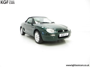 2001 A Stunning MGF 1.8i with 'MG' Cherished Registration SOLD