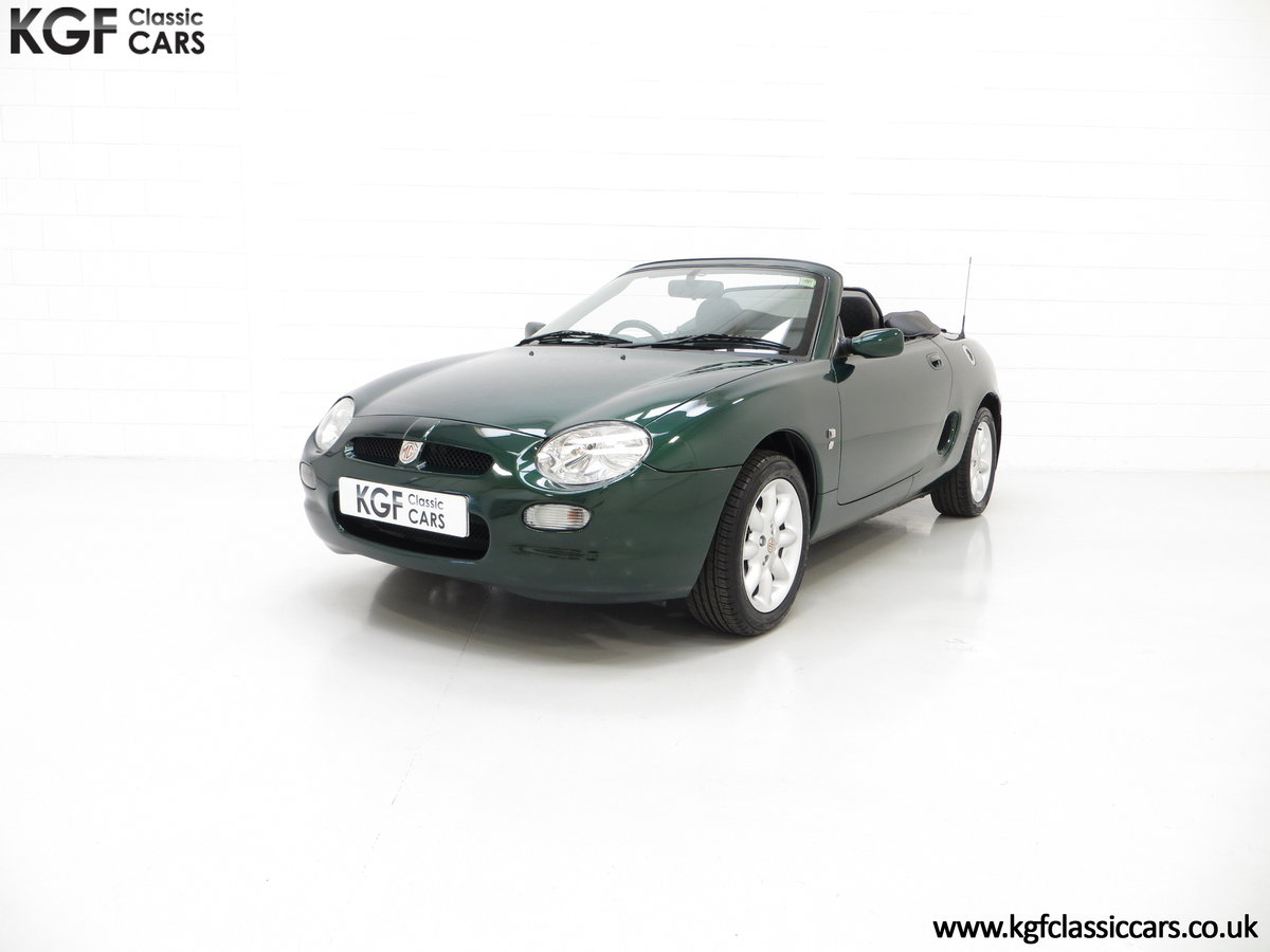 2001 A Stunning MGF 1.8i with 'MG' Cherished Registration SOLD (picture 2 of 6)