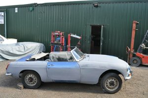1968 MG B MGB MK2 ROADSTER CHROME BUMPER LEATHER SEATS