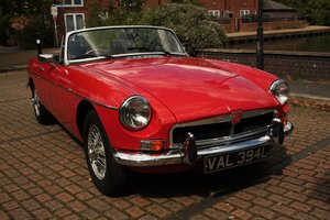 1973 MGB Roadster - Red, Wire Wheels - Older Restoration SOLD