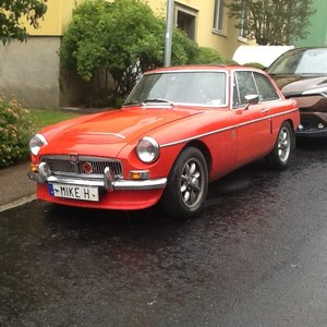 1968 MGC GT Manual +OD, Flame Red For Sale