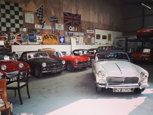 Small selection of properly restored MG Midgets available.