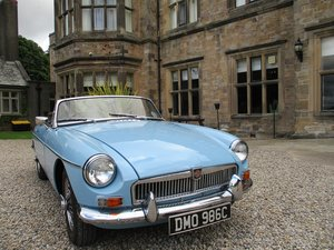 1965 Iris Blue MG B Roadster For Sale