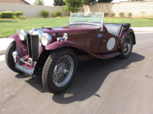 1949 MG TC SuperCharged Roadster RHD Maroon Rare $28.5k  For Sale