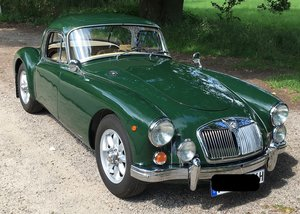 1958 MGA Coupe with upgrades 1800cc LHD 5-speed For Sale