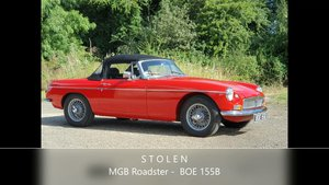 MG B Roadster, 1964 - STOLEN For Sale