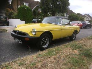 1980 MGB Roadster Snapdragon Yellow